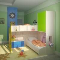 вариант необычного декора детской комнаты для двоих детей картинка