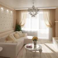 вариант светлого интерьера двухкомнатной квартиры картинка
