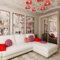 идея необычного декора спальни гостиной картинка