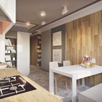 пример красивого декора кухни 14 кв.м фото