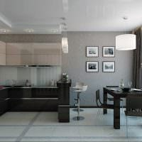 пример красивого стиля кухни 14 кв.м фото