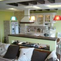 вариант яркого дизайна кухни 9 кв.м картинка