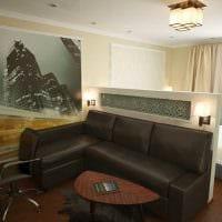 идея светлого декора спальни гостиной картинка
