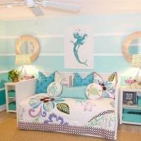 вариант необычного интерьера спальни для девочки в современном стиле картинка