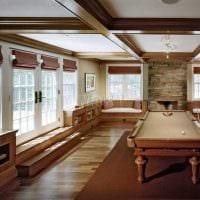 идея красивого интерьера бильярдной комнаты фото