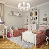 пример необычного интерьера детской комнаты для двоих детей фото
