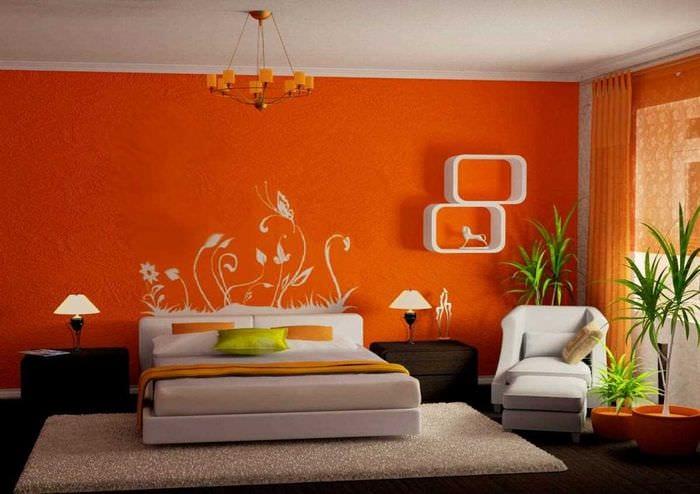 вариант яркого декора дома с росписью стен