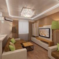 пример светлого дизайна двухкомнатной квартиры картинка