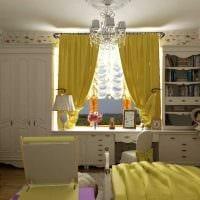 идея красивого интерьера комнаты для девочки 12 кв.м фото