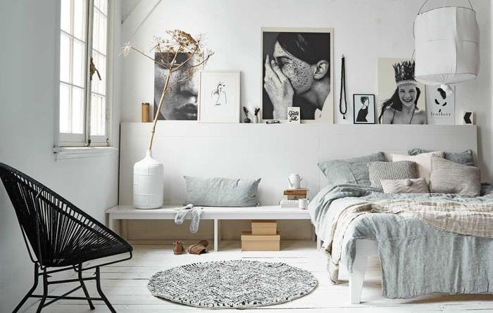 вариант светлого декора квартиры в скандинавском стиле