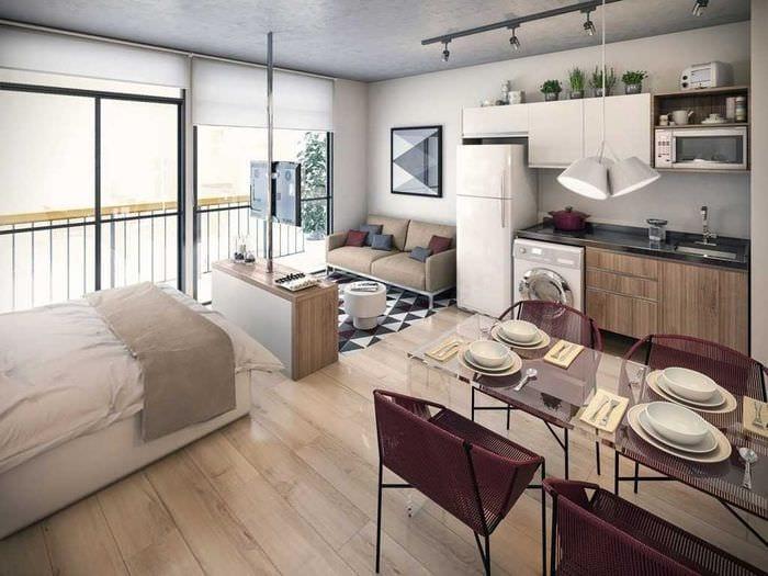 вариант необычного дизайна квартиры