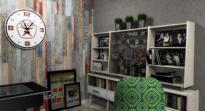 вариант интересного декора квартиры в советском стиле
