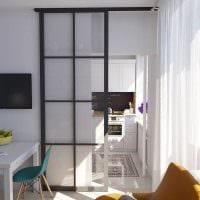 идея светлого дизайна маленькой комнаты в общежитии фото