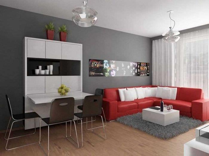 вариант светлого декора небольшой комнаты в общежитии