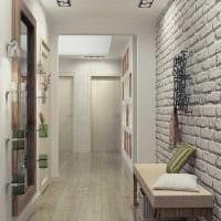 вариант красивого декора современной прихожей комнаты фото