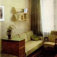 вариант необычного интерьера квартиры в советском стиле картинка