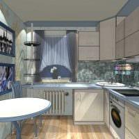 идея светлого дизайна кухни 9 кв.м картинка