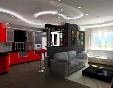 вариант красивого стиля квартиры студии фото