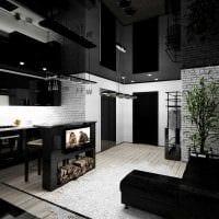 вариант светлого интерьера малогабаритной комнаты фото