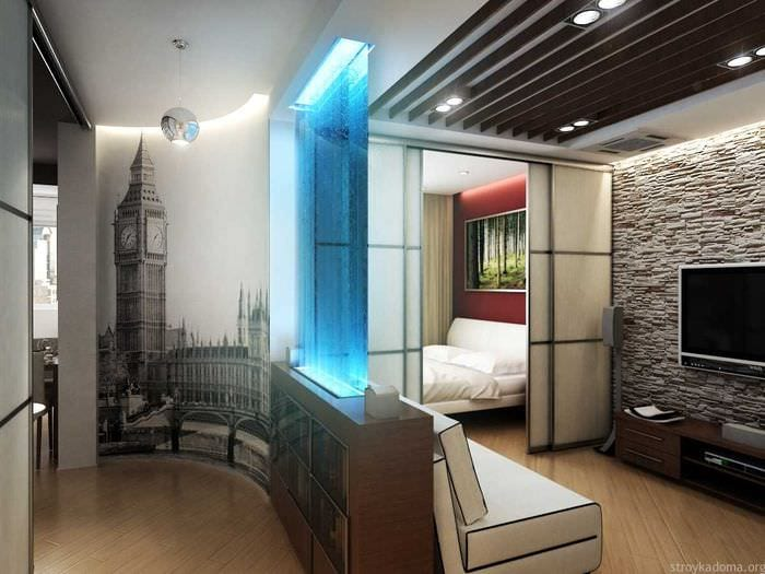 вариант светлого стиля маленькой комнаты