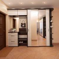 идея красивого стиля современной прихожей комнаты фото