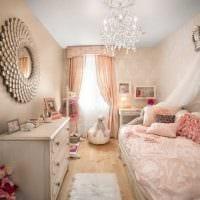идея яркого декора спальни для девочки в современном стиле фото