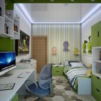 идея яркого стиля комнаты для девочки 12 кв.м картинка