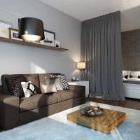 идея светлого стиля двухкомнатной квартиры в хрущевке картинка