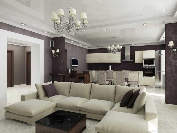 вариант красивого декора квартиры