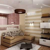 вариант красивого дизайна небольшой комнаты в общежитии картинка