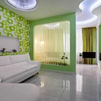 идея яркого стиля гостиной комнаты 18 кв.м. фото