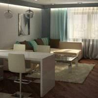 идея красивого сочетания цвета в дизайне современной комнаты фото