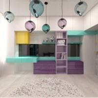 вариант необычного современного стиля детской комнаты фото