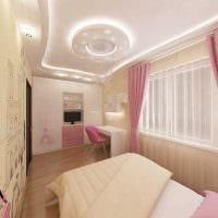 пример красивого современного декора детской комнаты фото