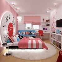 вариант необычного современного интерьера детской комнаты фото
