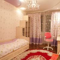 идея необычного интерьера детской комнаты для девочки 12 кв.м картинка