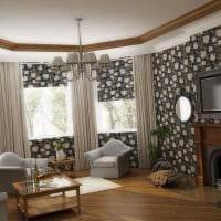 идея красивого стиля гостиной в частном доме фото