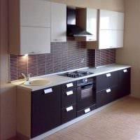 идея яркого стиля кухни 9 кв.м картинка