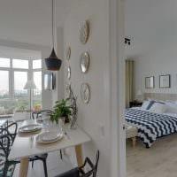 идея необычного декора комнаты в скандинавском стиле фото