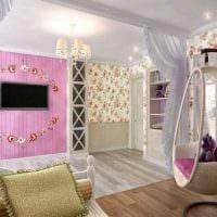 идея красивого декора спальни для девочки в современном стиле картинка