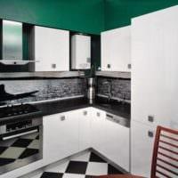 кухня 5 квадратных метров с белой мебелью
