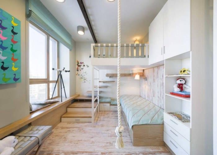 светлая комната для двоих детей