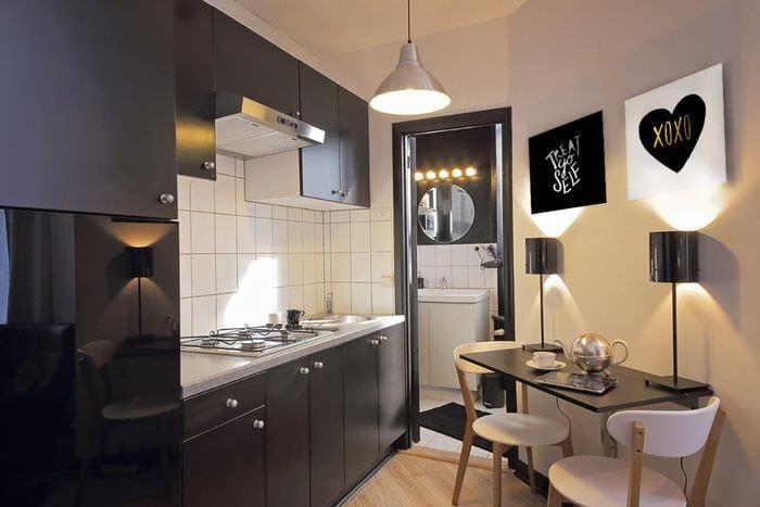 кухня в черно белых тонах