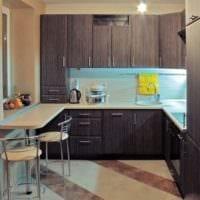 дизайн малогабаритной кухни для маленькой семьи