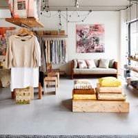 дизайн магазина одежды стиль оформления