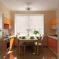 римские шторы дизайн малогабаритной кухни