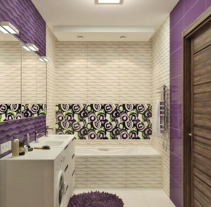 дизайн совмещенной ванной с туалетом