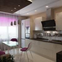 дизайн интерьера кухни с диваном