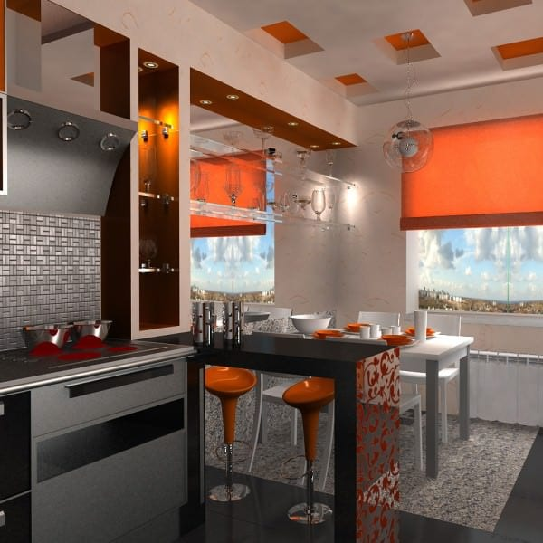 дизайн кухни фото 9 кв с барной стойкой будете курсе
