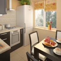 дизайн угловой маленькой кухни 5 квадратных метров